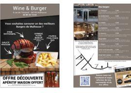 Flyer Wine & Burger Mulhouse