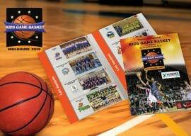 brochure kids game basket