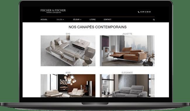 Site internet canapé contemporain