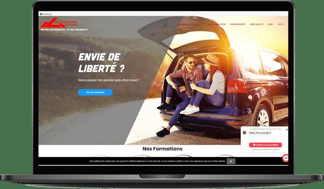 Site Internet auto ecole montaigne