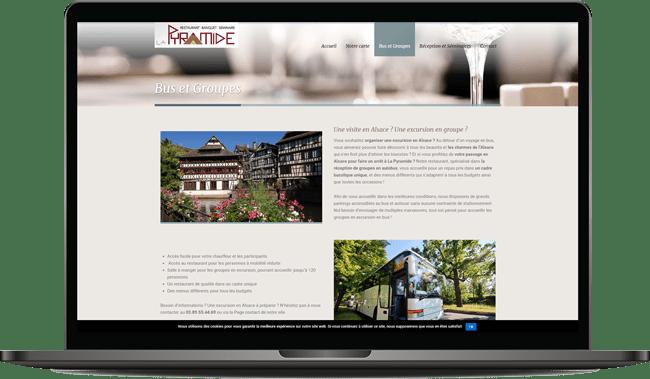 Site internet restaurant Wittelsheim