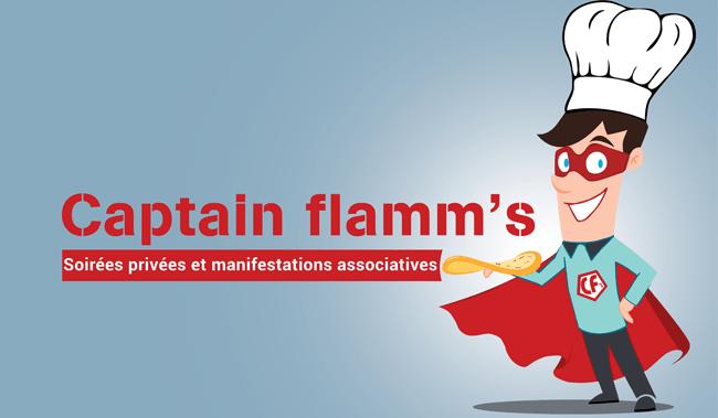 création logo captain flamm's Wittenheim
