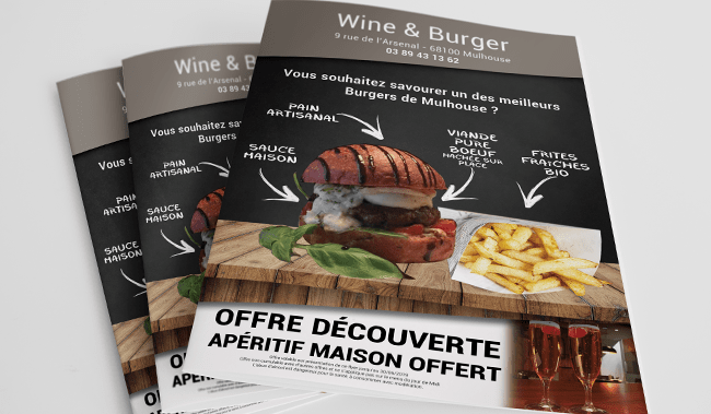 flyers wine and burger Mulhouse