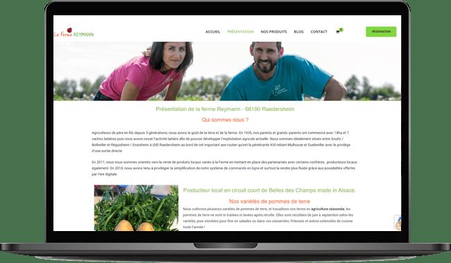 Création du site e-commerce de la Ferme Reymann