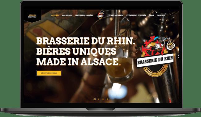 Création site Internet de la brasserie du Rhin