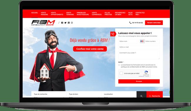 Création du site Internet rbm consultant immo